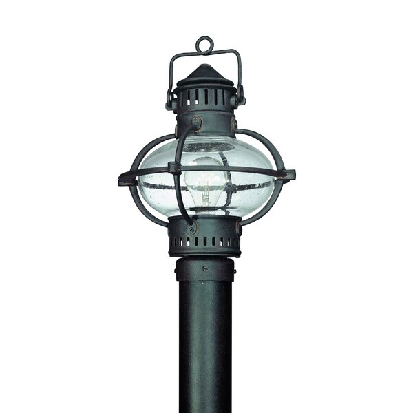 Theodore 1-Light Glass Shade Post Lantern by Darby Home Co