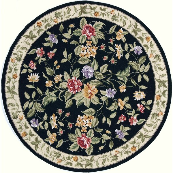 Andillac Hand-Hooked Black/Ivory Area Rug by August Grove