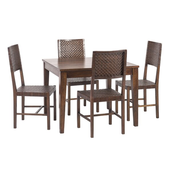 Gambino 5 Piece Wood Dining Set by Bloomsbury Market