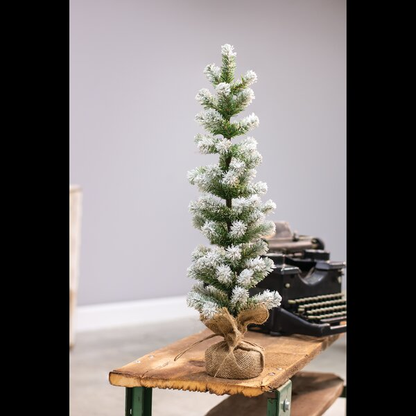Green Snow Tipped Pine Artificial Christmas Tree with Burlap Base by The Holiday Aisle