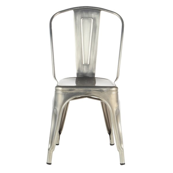 Industrial Metal Side Chair Stackable by Joseph Allen Home