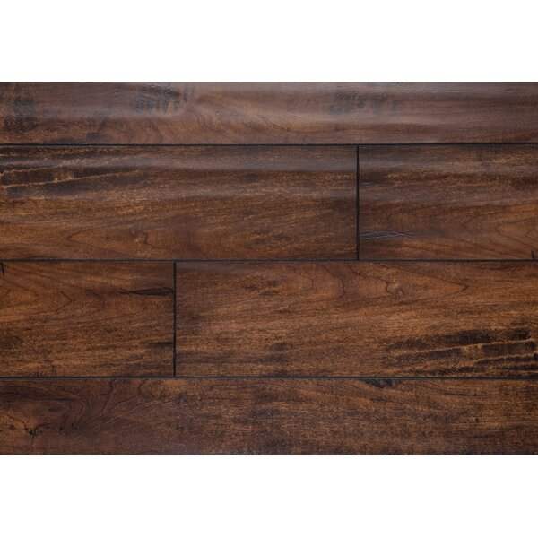 Harrington 5 x 48 x 12mm Oak Laminate Flooring in Walnut by Chic Rugz