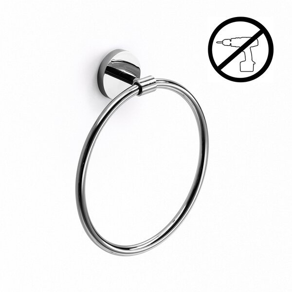 Duemila Wall Mounted Self-Adhesive Towel Ring by WS Bath Collections
