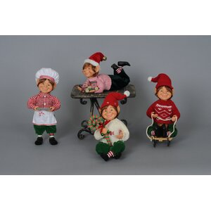 Christmas 4 Piece Traditional Elf Set