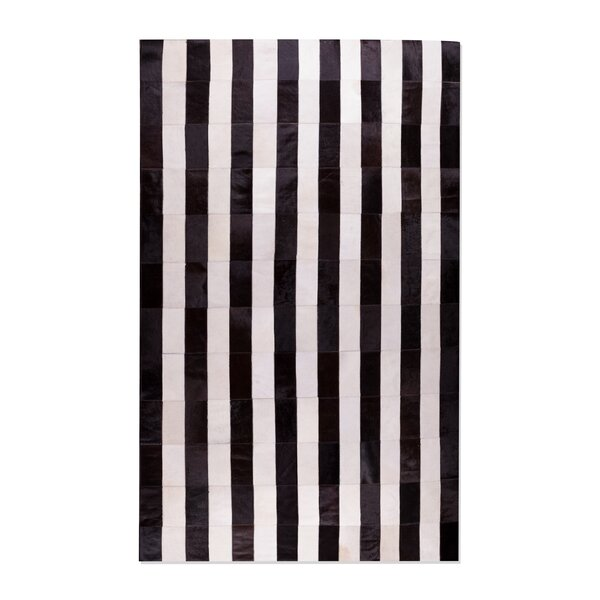 Manan Hand-Tufted Cowhide Black/White Area Rug by 17 Stories