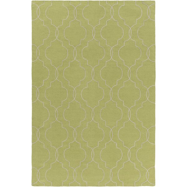 Freudenburg Hand Woven Wool Lime/Seafoam Area Rug by Darby Home Co