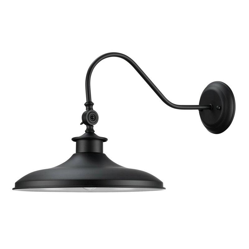 Black Barn Style Modern Farmhouse Light #blacklight #farmhouselight #barnlight