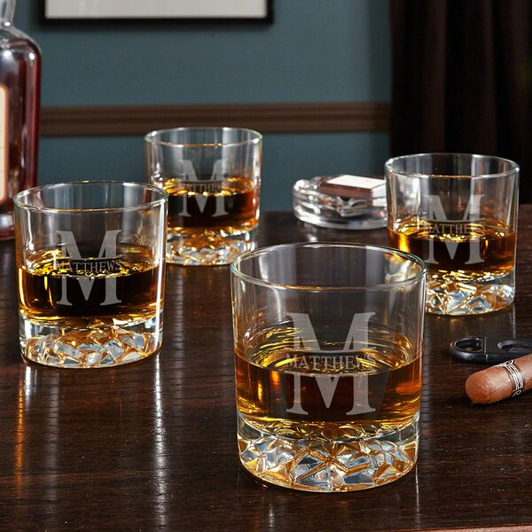 Oakmont Personalized Fairbanks 11 oz. Whiskey Glass (Set of 4) by Home Wet Bar