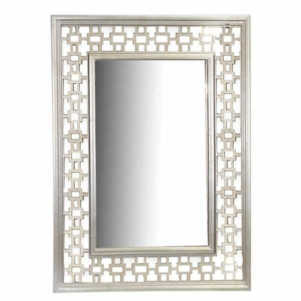 Alexios Creative Wooden Accent Mirror by Rosdorf Park