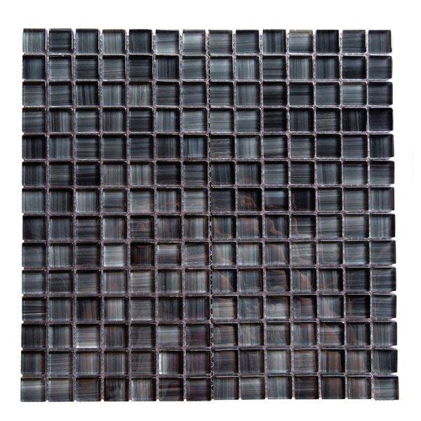 Handicraft II 0.75 x 0.75 Glass Mosaic Tile in Glazed Lagoon by Abolos