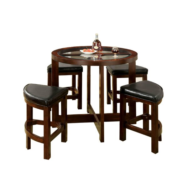 Fellman 5 Piece Counter Height Dining Table Set by Darby Home Co Darby Home Co
