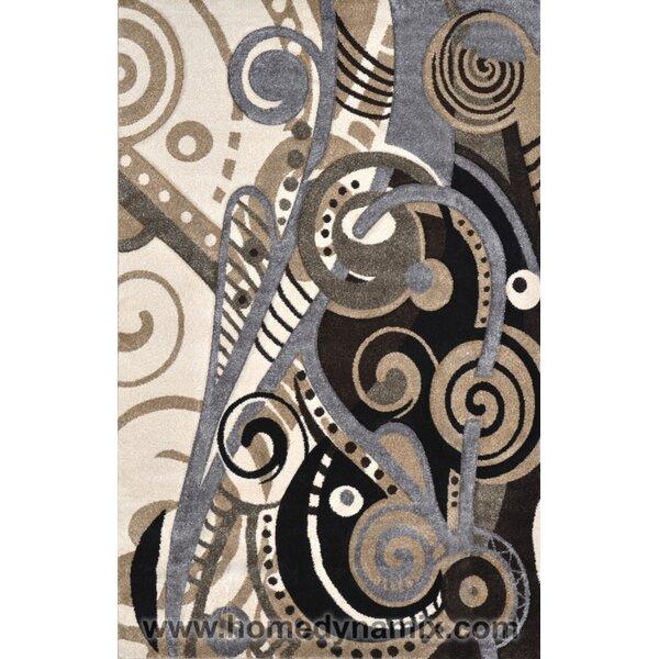 Schmitt Hand-Carved Gray/Black Area Rug by Ebern Designs