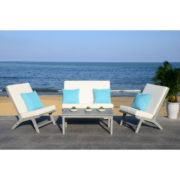 Cortney 4 Piece Chair Set with Cushions by Trent Austin Design