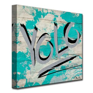'Yolo' by Olivia Rose Textual Art on Canvas by Ready2hangart