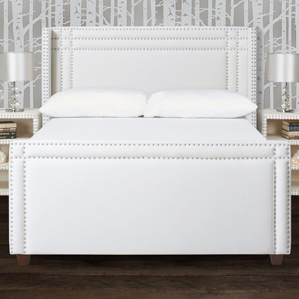 Kelvin Wingback Upholstered Platform Bed by Willa Arlo Interiors