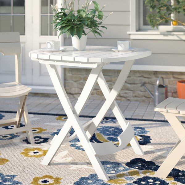 Quebec Folding Resin Bistro Table by Andover Mills