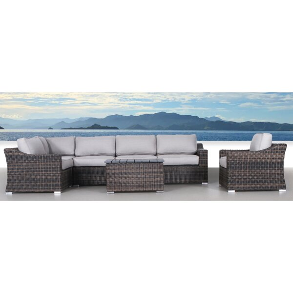 Dayse 7 Piece Sectional Seating Group with Cushions by Sol 72 Outdoor Sol 72 Outdoor
