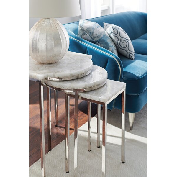 Trifecta Side 3 Piece Nesting Tables By Caracole Classic