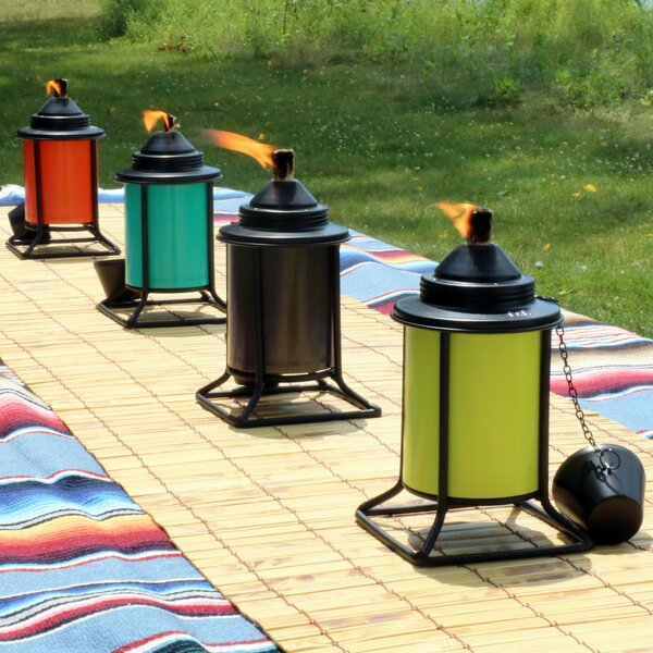 Camille Outdoor Metal Tabletop Torch (Set of 4) by Alcott Hill