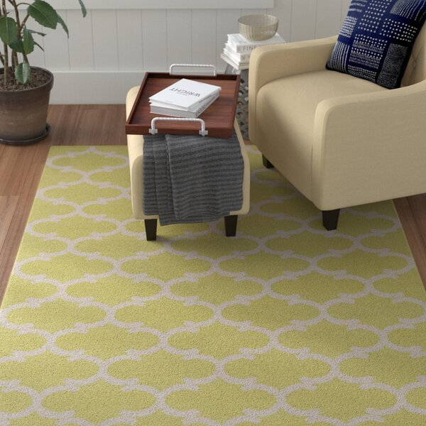 Ayles Yellow/Ivory Area Rug by Winston Porter