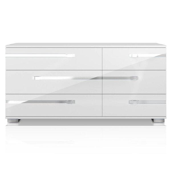 Alejandre 6 Drawer Double Dresser by Orren Ellis