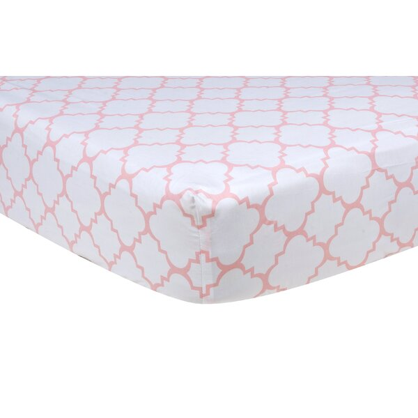 Sky Quatrefoil Fitted Crib Sheet by Trend Lab