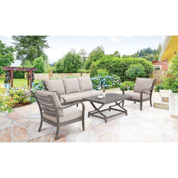Bobbie 4 Piece Sofa Seating Group with Cushions by Darby Home Co