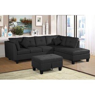 Delonzo 3 Piece Velvet Living Room Set by Latitude Run®