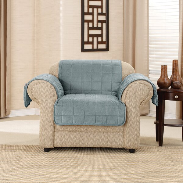 Deluxe Comfort Quilted Box Cushion Armchair Slipcover by Sure Fit