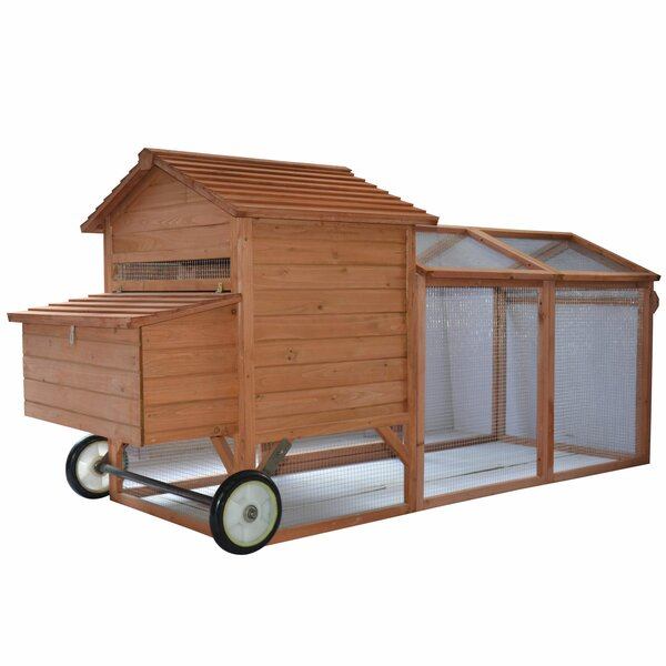 Bayer Wheeled Tractor Hen House Chicken Coop with Chicken Run by Archie & Oscar