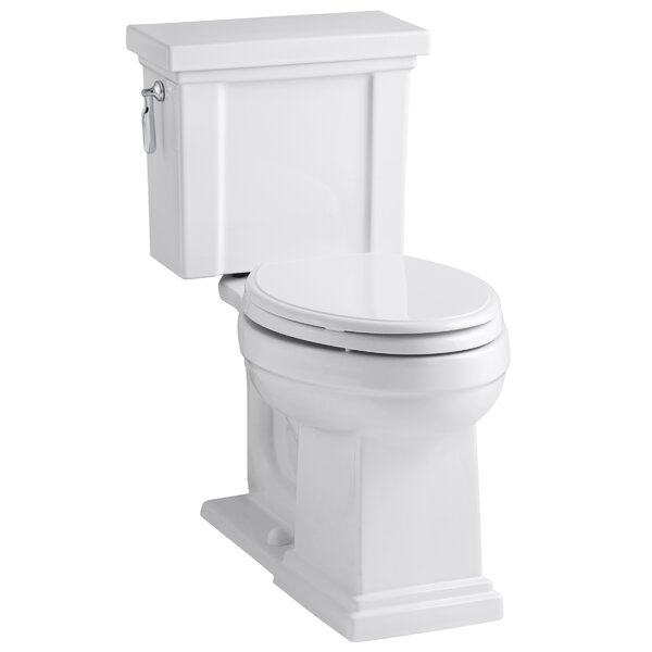 Tresham Comfort Height 1.28 GPF Elongated Two-Piece Toilet by Kohler