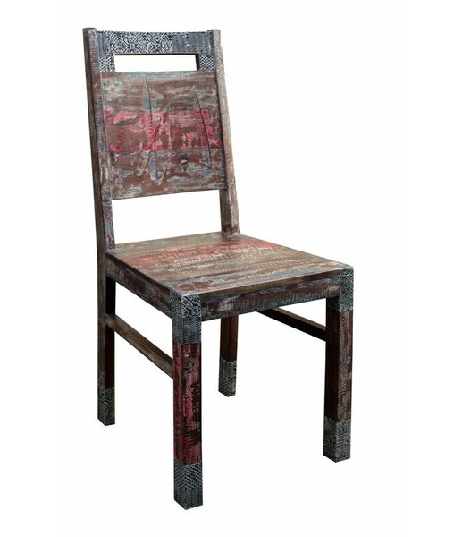 Melra Solid Wood Dining Chair (Set of 2) by World Menagerie