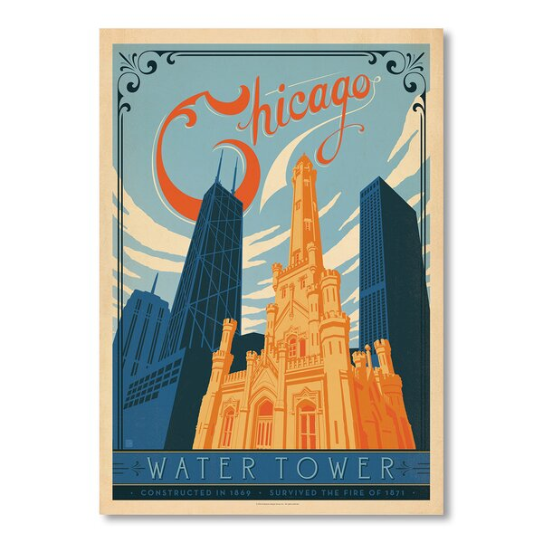 Chicago Water Tower Vintage Advertisement by East Urban Home