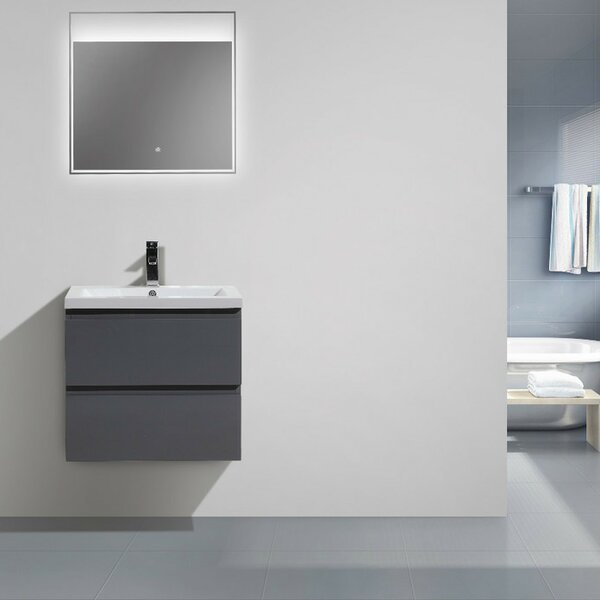 Lina 24Wall Mounted Single Bathroom Vanity Set by Orren EllisLina 24Wall Mounted Single Bathroom Vanity Set by Orren Ellis