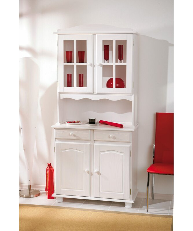 Unfinished Pine Kitchen Cabinets: Brambly Cottage Solid Pine Display Cabinet Kitchen Pantry