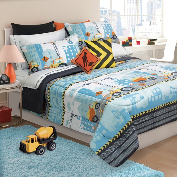 Margie Under Construction 3 Piece Comforter Set by Zoomie Kids