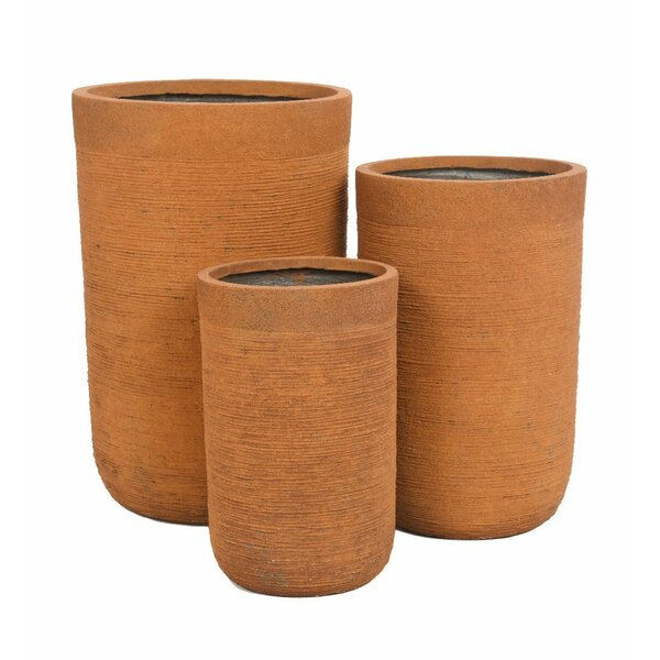 Tall Round 3-Piece Pot Planter Set by Plow & Hearth