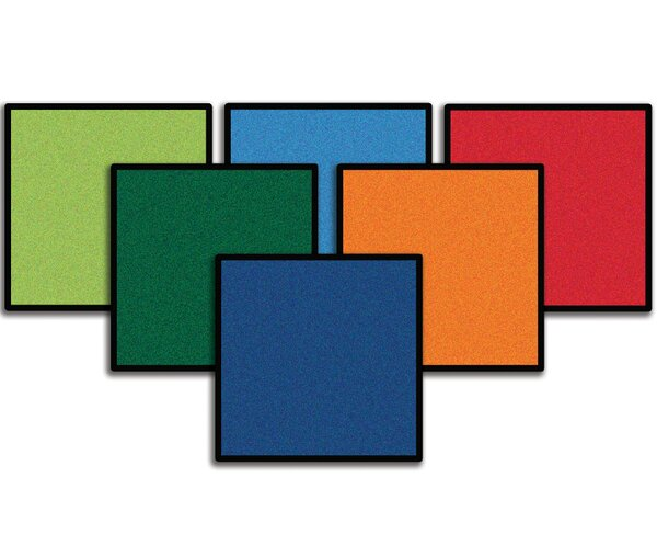 Value Plus Mini Go Square Area Rug (Set of 12) by Carpets for Kids