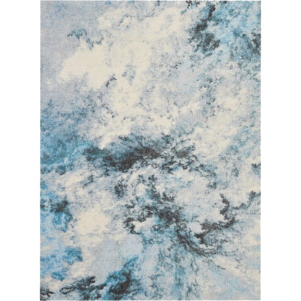 Carnkeeran Hand-Tufted Blue/Gray/White Area Rug by Ivy Bronx