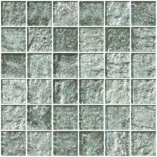 2 x 2 Glass Mosaic Tile in White Gold by Susan Jablon