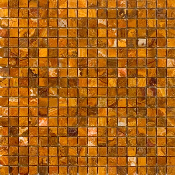0.63 x 0.63 Onyx Mosaic Tile in Brown by Epoch Architectural Surfaces