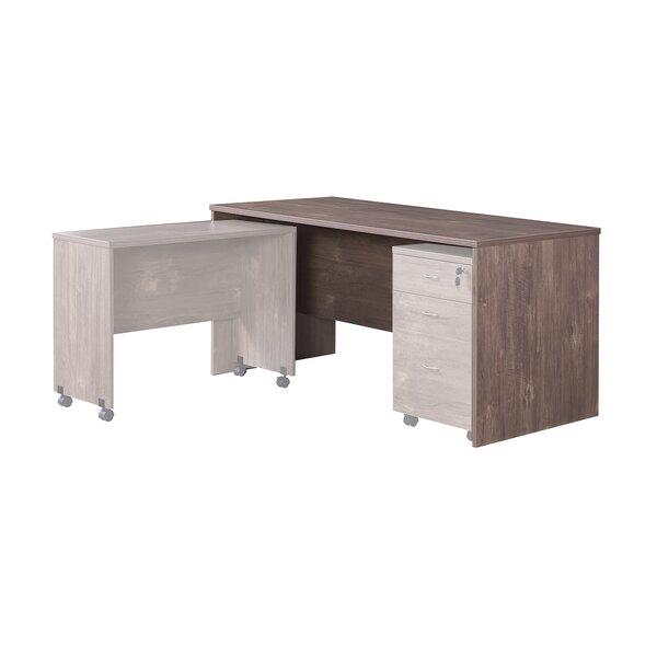 Grained Wooden Desk Configurable Office Set