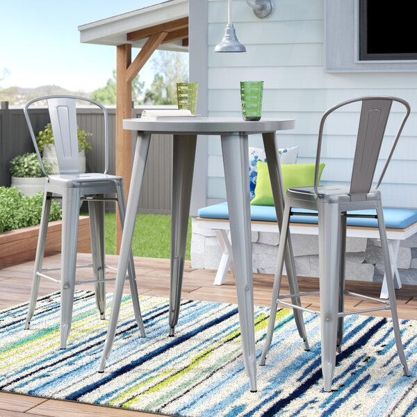 Sumter 3 Piece Bar Height Dining Set by Latitude R