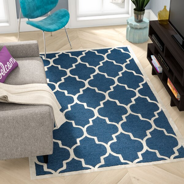 Charlenne Hand-Tufted Navy Area Rug by Zipcode Design