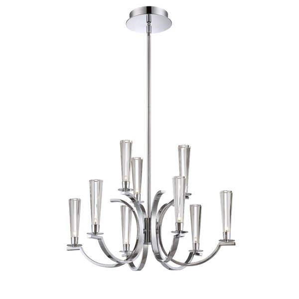 Mccroy 9-Light Shaded Tiered Chandelier By Orren Ellis