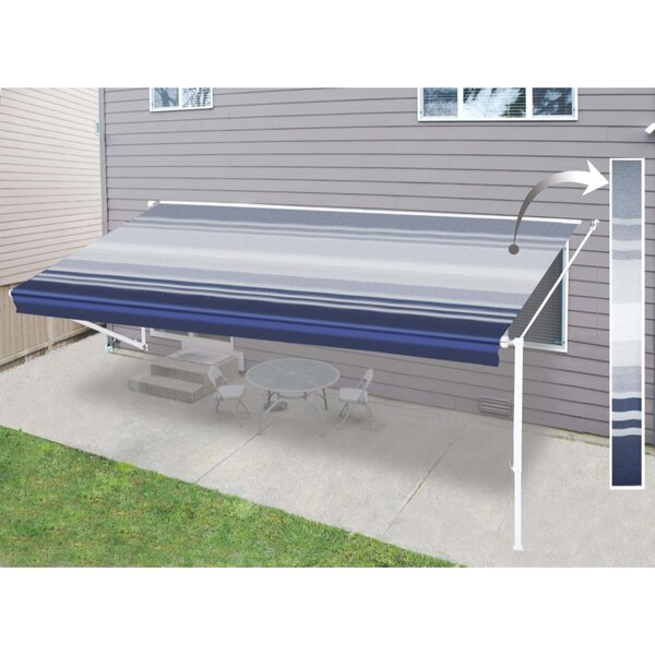 Vinyl RV Awning 10ft. W x 8ft. D Retractable Fabric Replacement by ALEKO