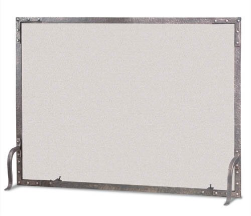 Old World Flat Top Single Panel Fireplace Screen By Pilgrim Hearth