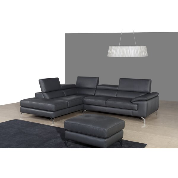 Chambersburg Leather Sectional by Wade Logan