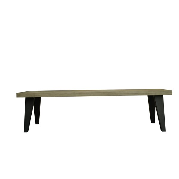 Fiskeville Acacia Wood Bench by Union Rustic