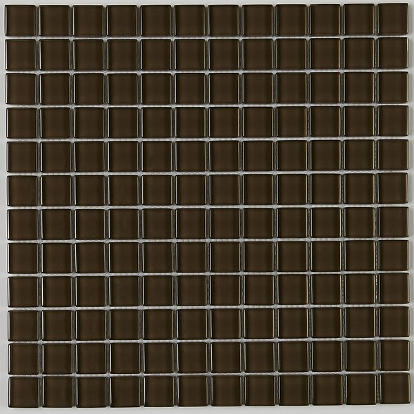 Geneva 12 x 12 Glass Mosaic Tile in Classic Solid Suede Shoes by Itona Tile